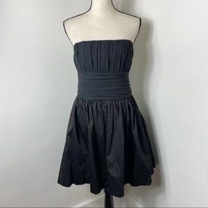 NWT Freeway Black Strapless Mini Dress L